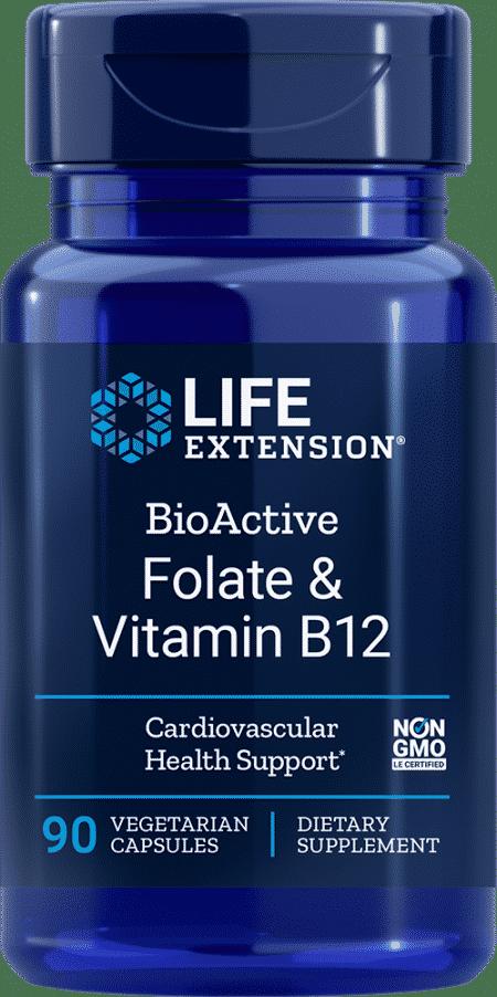 BioActive Folate & Vitamin B12, 90 VeggieC 1