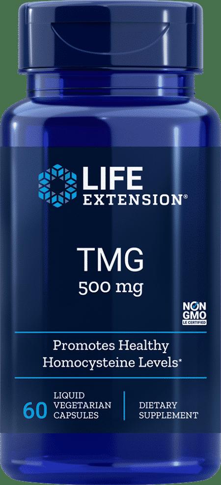 TMG, 500 mg, 60 liquid vegetarian capsules 1