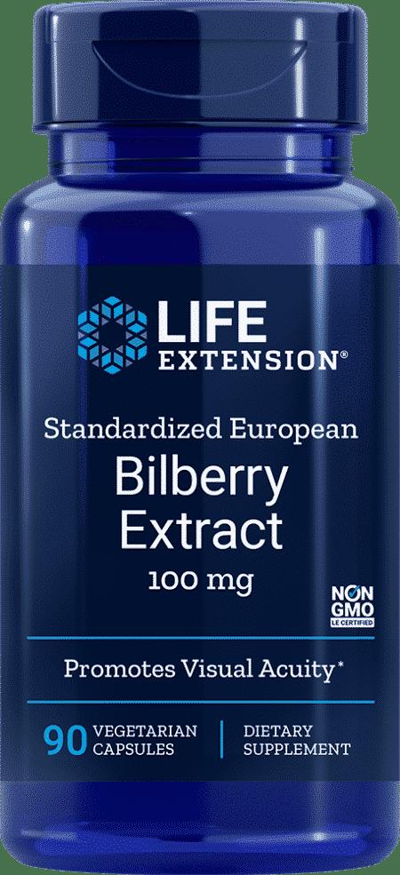 Std European Bilberry Ext, 100 mg, 90 VeggieC 1