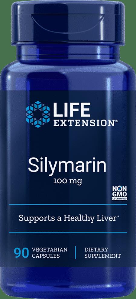 Silymarin, 100 mg, 90 vegetarian capsules 1