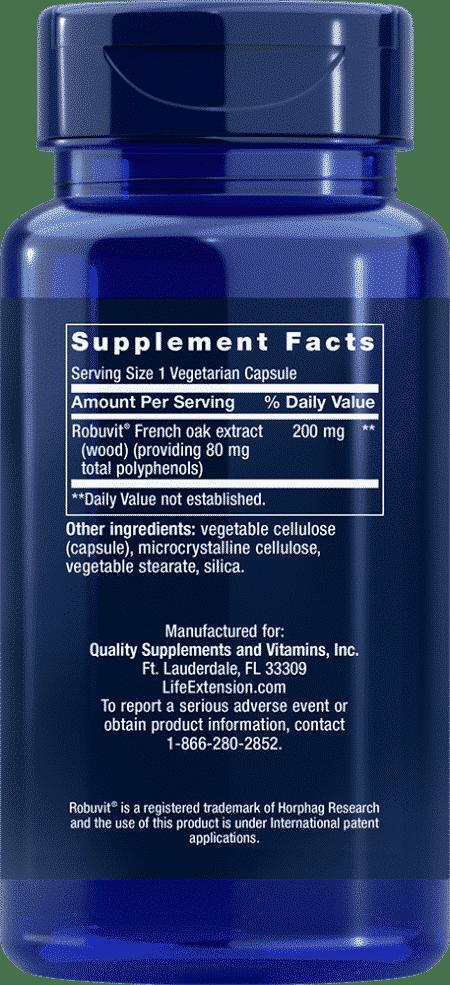 RiboGen™ French Oak Wood Ext, 200 mg, 30 VeggieC 2