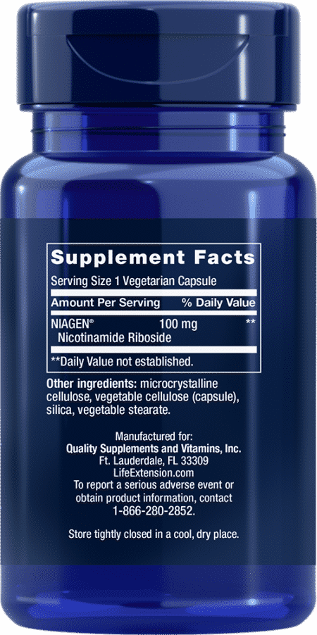 NAD+ Cell Regenerator™, 100 mg, 30 VeggieC 2