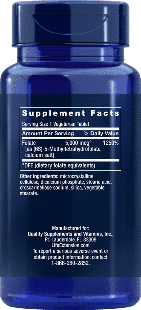 High Pot Optimized Folate, 5000 mcg, 30 VeggieT 2