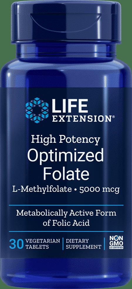 High Pot Optimized Folate, 5000 mcg, 30 VeggieT 1