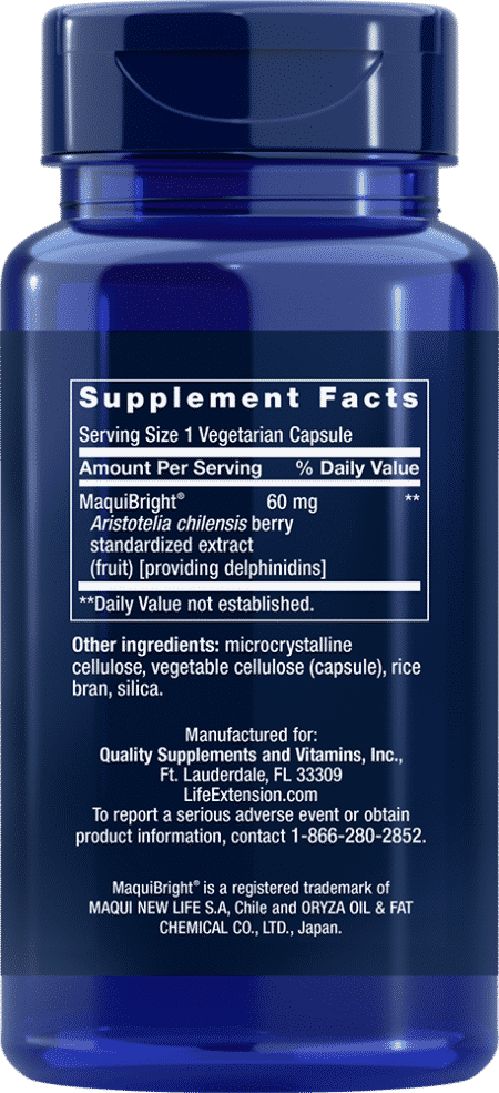 Tear Support with MaquiBright®, 60 mg, 30 VeggieC 2