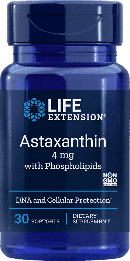 Astaxanthin with Phospholipids, 4 mg, 30 softgels 1