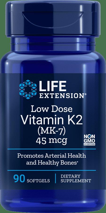 Low Dose Vitamin K2, 45 mcg, 90 softgels 2