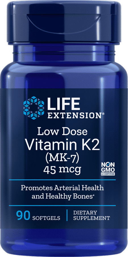 Low Dose Vitamin K2, 45 mcg, 90 softgels 1