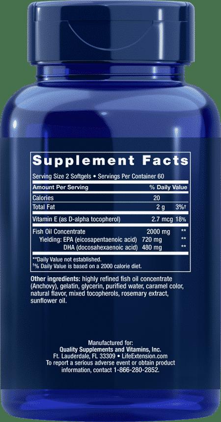 OMEGA FOUNDATIONS® Mega EPA/DHA, 120 softgels 2