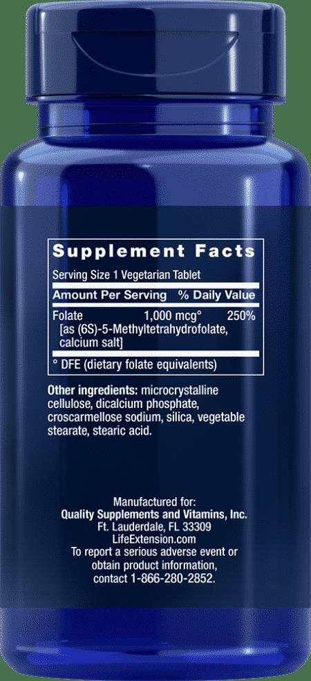 Optimized Folate, 1000 mcg, 100 vegetarian tablets 2