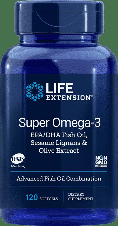 Super Omega-3 EPA/DHA w/ Sesame & Olive Ext, 120 S 1