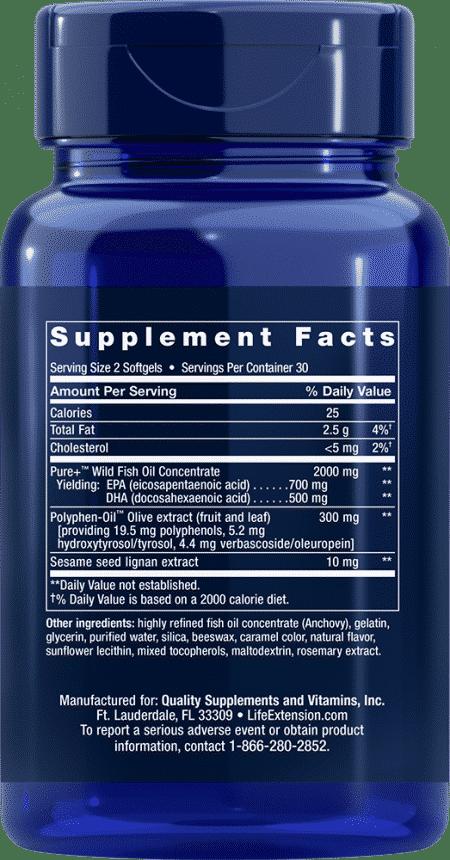 Super Omega-3 EPA/DHA w/ Sesame & Olive Ext, 60 S 2