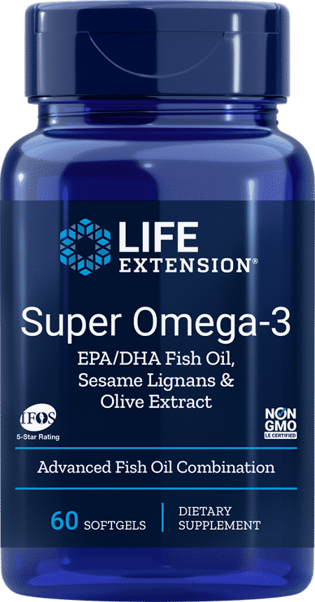 Super Omega-3 EPA/DHA w/ Sesame & Olive Ext, 60 S 1