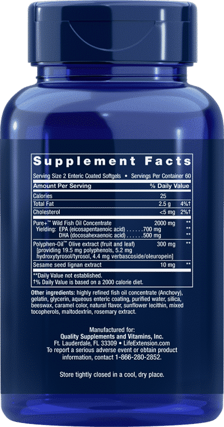 Sup Omega-3 EPA/DHA w/ Sesa & Olive, 120 Ent-CoatS 2