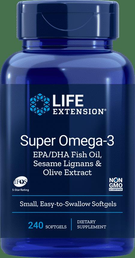 Super Omega-3 EPA/DHA w/ Sesame & Olive Ext, 240 S 1