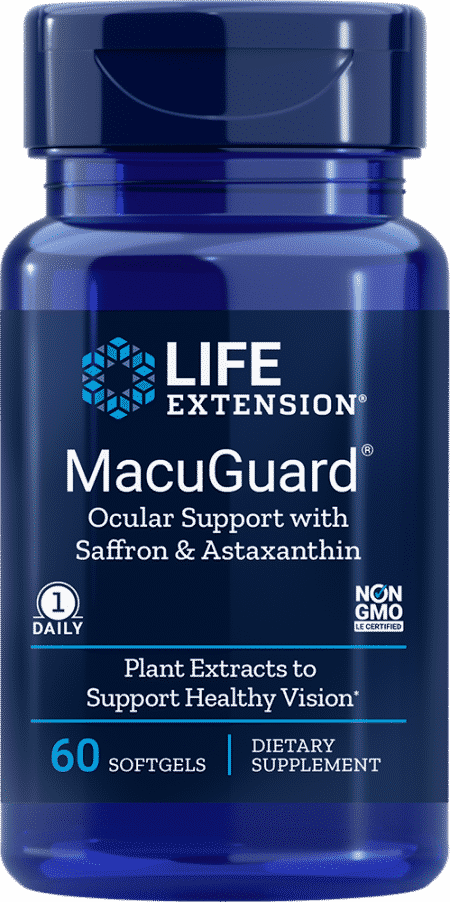 MacuGuard® Ocular Support w/ Saffron & Asta, 60 S 1