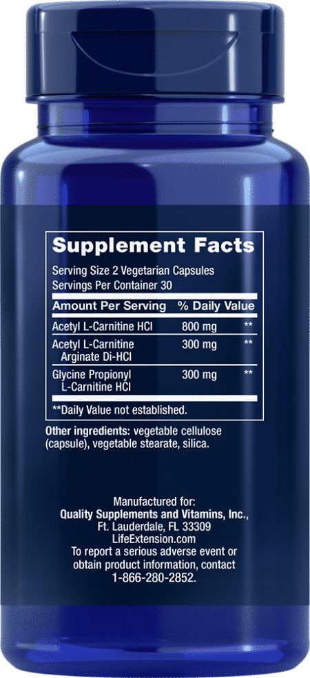 Optimized Carnitine, 60 vegetarian capsules 2