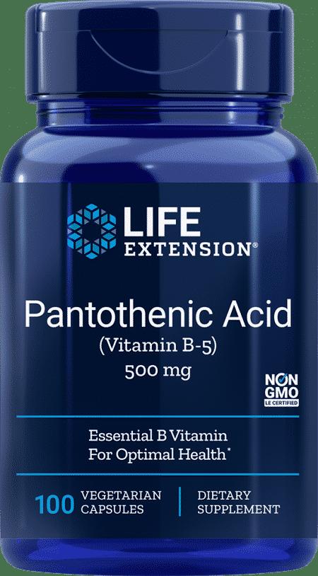 Pantothenic Acid (Vit B-5), 500 mg, 100 VeggieC 1