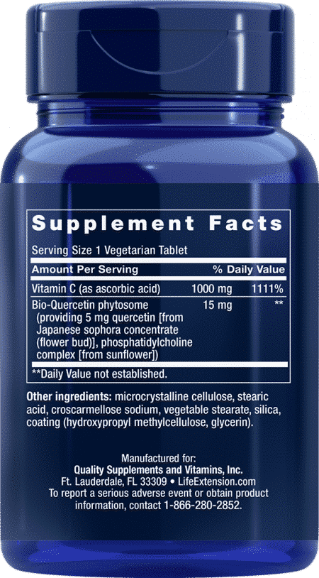 Vitamin C w/Bio-Quercetin Phytosome, 60 Veggie Tab 2