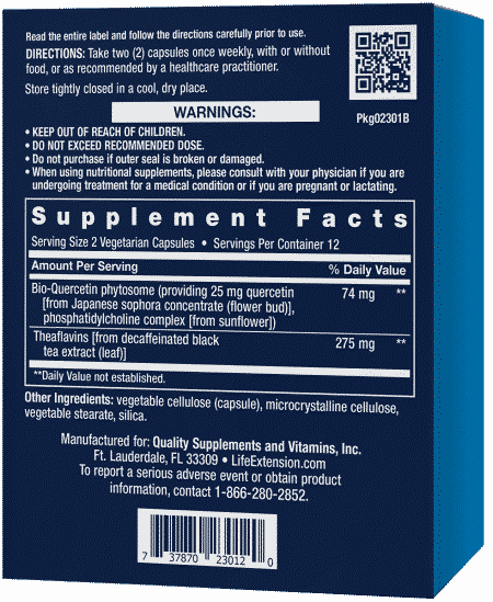 Senolytic Activator, 24 vegetarian capsules 2
