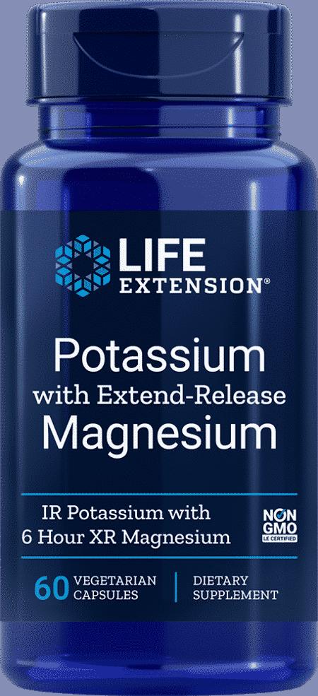 Potassium w/Extend-Release Magnesium 60 veggie cap 1