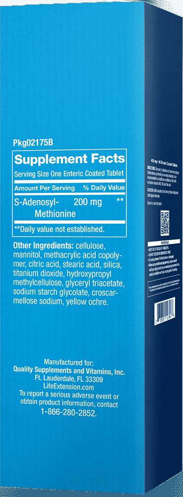 SAMe, 200 mg, 30 enteric-coated tablets 2