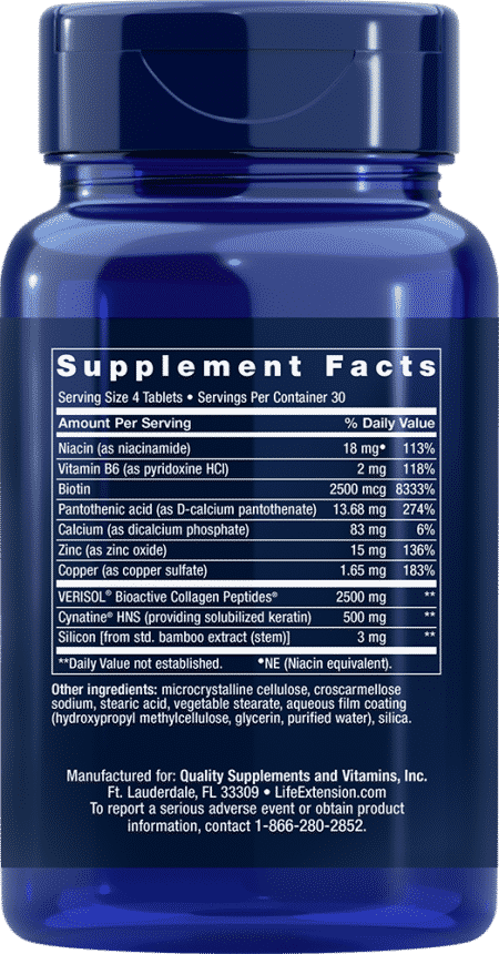 Hair, Skin & Nails Collagen Plus Formula, 120 Tabl 2
