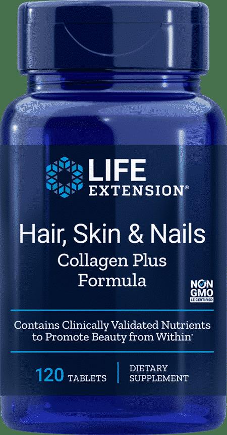 Hair, Skin & Nails Collagen Plus Formula, 120 Tabl 1