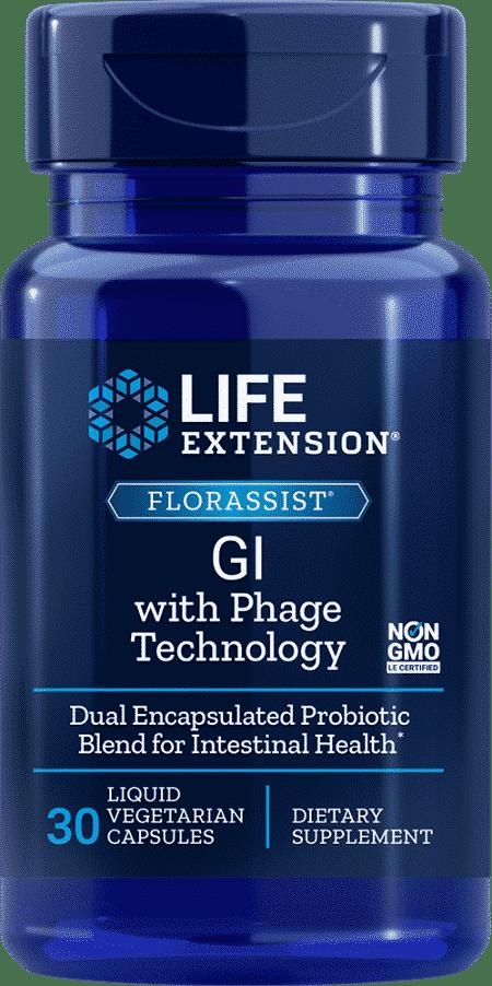 FLORASSIST® GI w/ Phage Technology, 30 Liq VeggieC 1